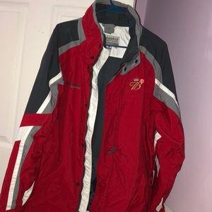 Columbia jacket with Budweiser logo
